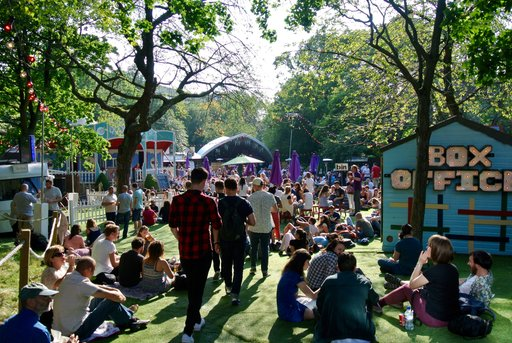 Assembly festival at George Square Gardens, Edinburgh