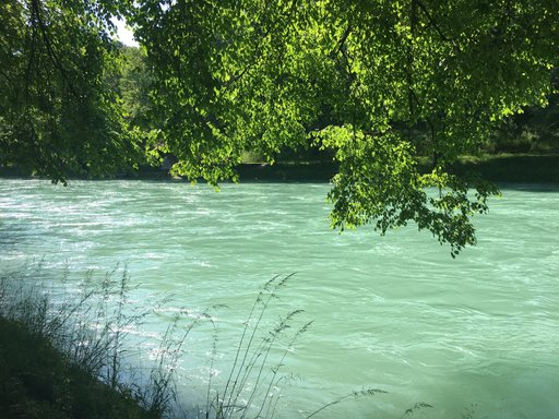The river Aare, Bern