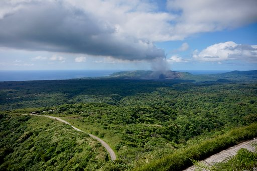 View towards Mt Yasur from central Tanna
